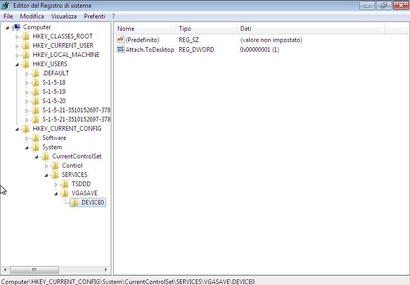 L'editor del registro (Regedit) è un software che permette di modificare e inserire nuove chiavi