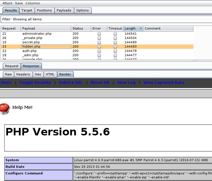 Versione PHP del mio server, sistema operativo. . .