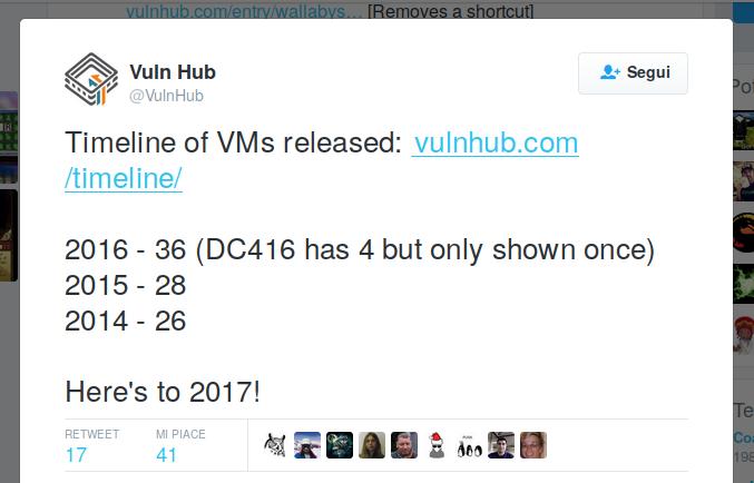 Numero di VM in Vulnhub