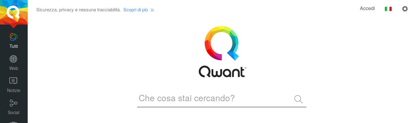 Motore di ricerca Qwant