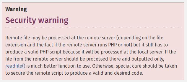 Avviso di sicurezza su php.net