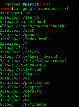 File robots.txt di Google