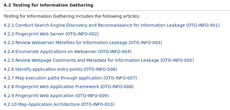 Passi definiti da OWASP