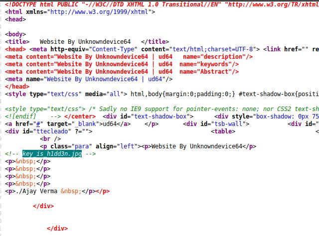 Commento all'interno del codice sorgente