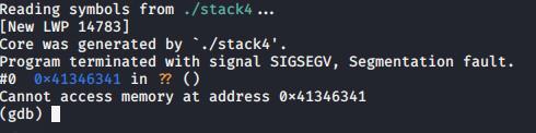 Segmentation fault in GDB