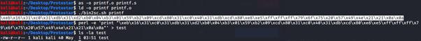 Creazione dello shellcode