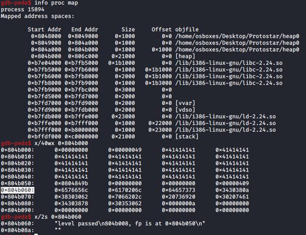 L'heap contiene ora la chiamata alla funzione winner