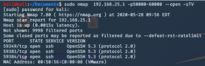Three ssh connections for the three hosts