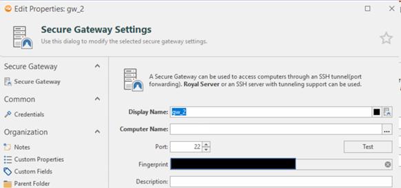 Secure Gateway Settings aka the tunnel settings