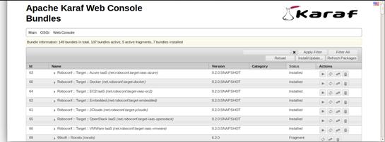 Home page di Apache Karaf